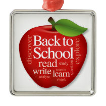 Back to School Metal Ornament
