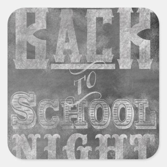 Back To School Night Invitation Square Sticker