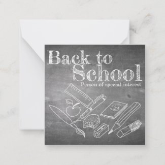 Back to School Note Card