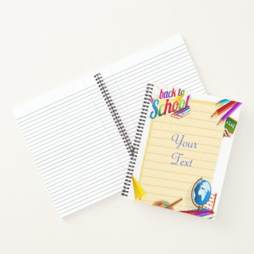 Beach Themed Back to School Notebook