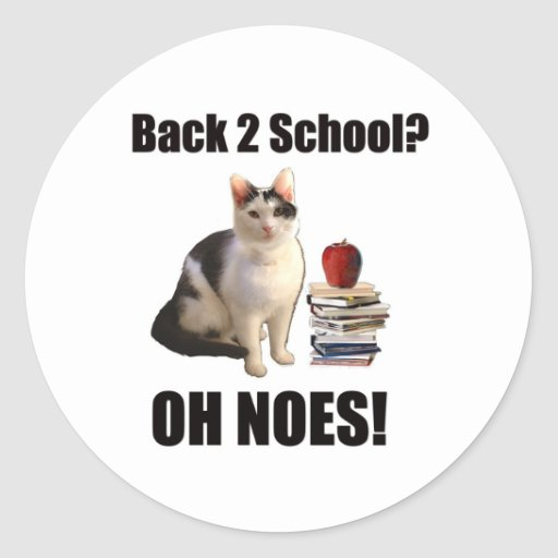 Back to school? OH NOES Stickers