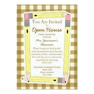 """Back To School Open House Invitation 5"""" X 7"""" Invitation Card"""