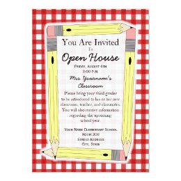 Back To School Open House Invitation