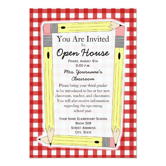 Back to school open house invitation zazzle back to school open house invitation stopboris Images