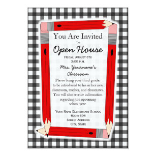 Elementary School Open House Invitations Announcements Zazzle