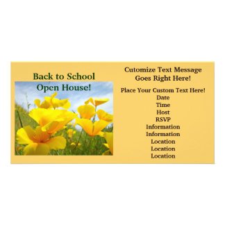 Back to School Open House Invitation Announcements Photo Card
