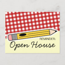 Back To School Open House / Orientation Postcard