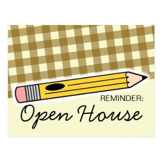 Back To School Open House / Orientation Postcard