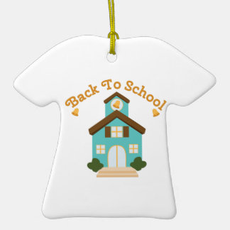 Back to School Ceramic T-Shirt Ornament