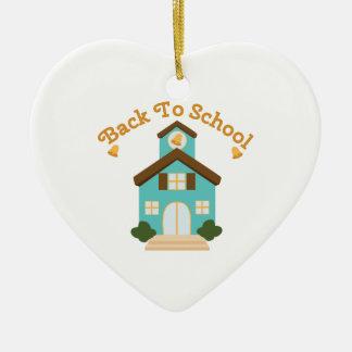 Back to School Ceramic Heart Ornament