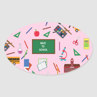 Back to School Oval Sticker