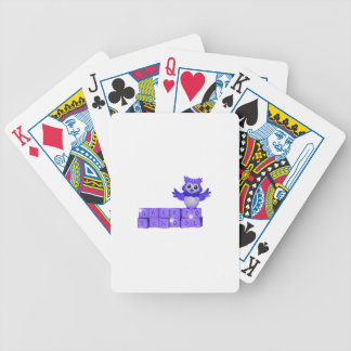 Back to school owl bicycle playing cards
