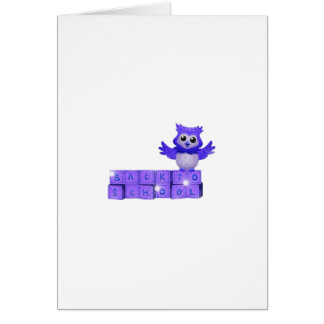 Back to school owl greeting card
