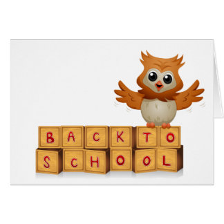 Back to School Owl Card