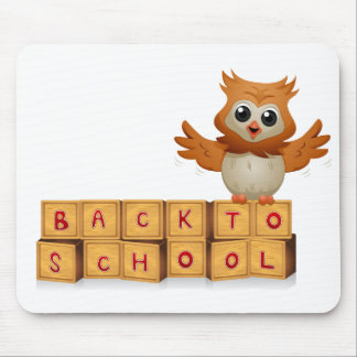 Back to School Owl Mousepads