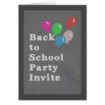 Back to School Party Invitation, Chalkboard Card