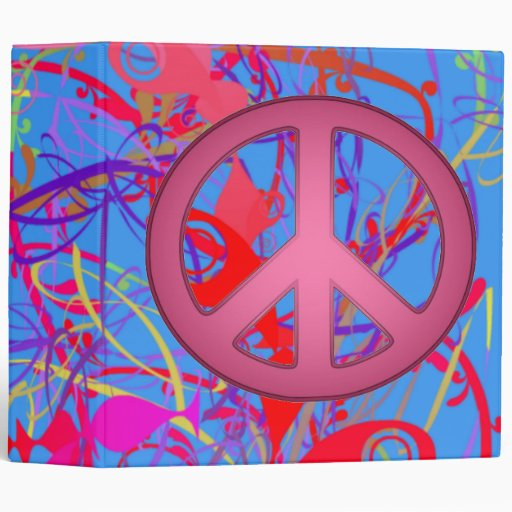BACK TO SCHOOL - PEACE SIGNS BINDER - UNIQUE GIFTS
