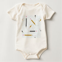 Back to School Pencils Baby Bodysuit