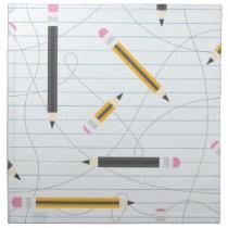 Back to School Pencils Cloth Napkin