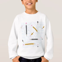 Back to School Pencils Sweatshirt