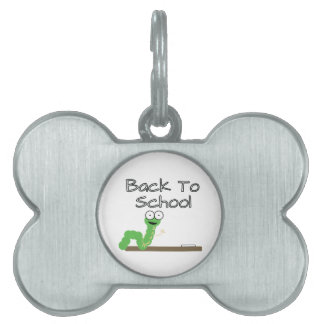 Back To School Pet Name Tag