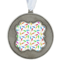 Back To School Pewter Ornament