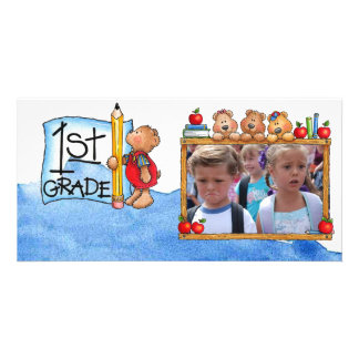 Back to school photocard photo greeting card