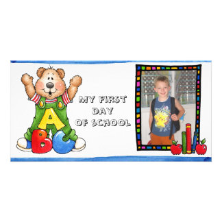 Back to school photocard photo card template
