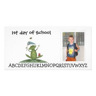 Back to school photocard card