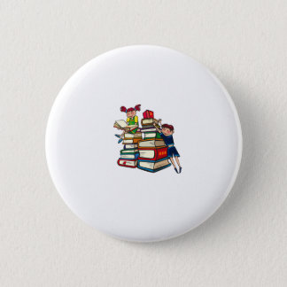 Back to school pinback button