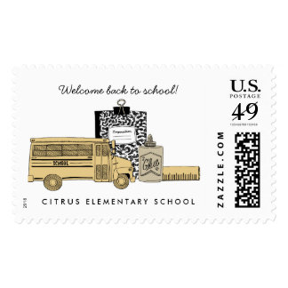 Back to School Postage Stamps