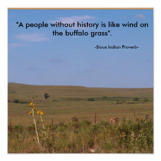 """Back to School Poster  """"Sioux Indian Proverb"""""""