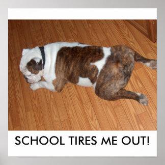 Back To School Poster/Sullivan the Bulldog Poster