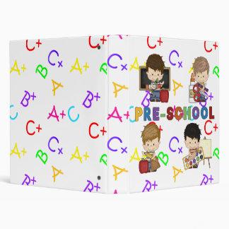 Back To School Preschool Boy Binder