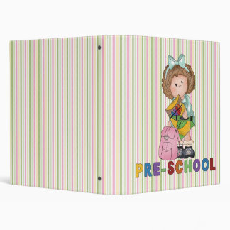 Back To School Preschool Gift For Girl 3 Ring Binder