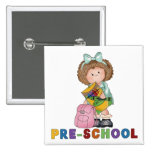 Back To School Preschool Gift For Girl Buttons
