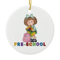 Back To School Preschool Gift For Girl Ceramic Ornament