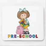 Back To School Preschool Gift For Girl Mouse Pad