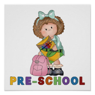 Back To School Preschool Gift For Girl Poster