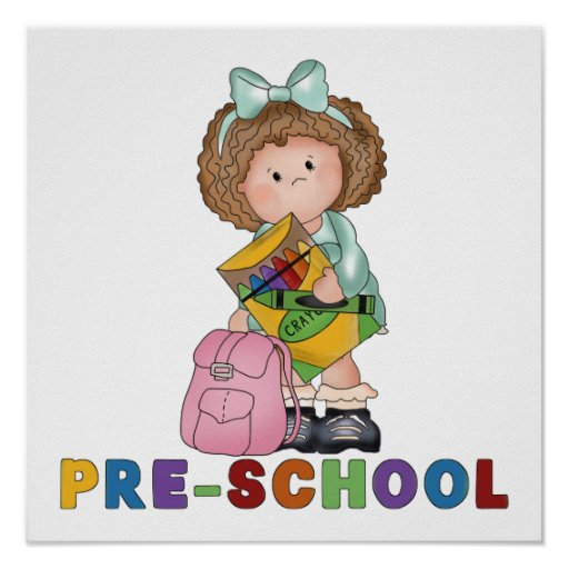 Back To School Preschool Gift For Girl Posters