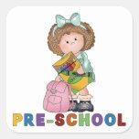 Back To School Preschool Gift For Girl Sticker
