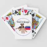 Back to School Puppy Bicycle Poker Cards