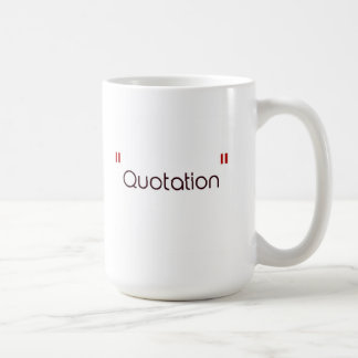 Back to School: Quotation Classic White Coffee Mug