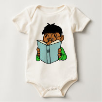 Back to school, reading is fun baby bodysuit
