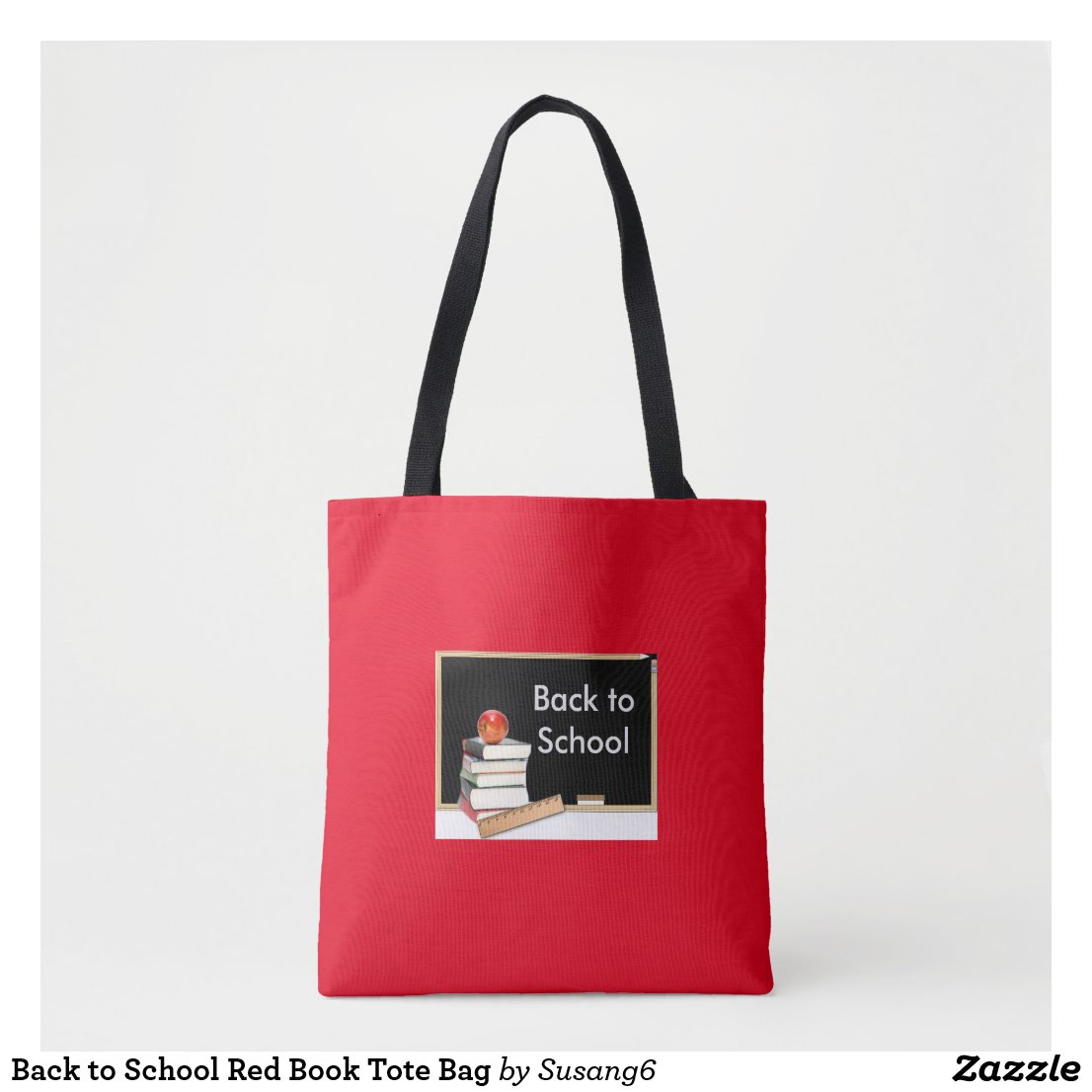 Back to School Red Book Tote Bag