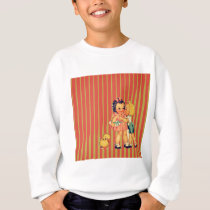 back to school retro pattern Kitsch Vintage Kids Sweatshirt