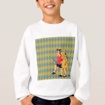 back to school Retro pattern kitsch Vintage Kids Sweatshirt