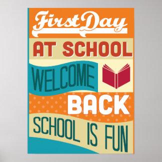 Back To School Retro Typography Posters