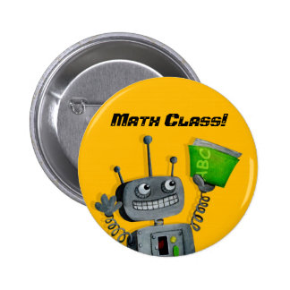 Back to School Robot Pins