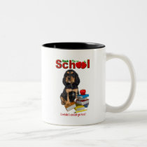 Back To School - Rottweiler Two-Tone Coffee Mug